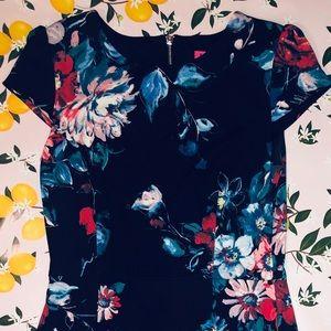 Floral Print Betsy Johnson Midi Dress